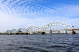 A train bridge that crosses over the Daugava River